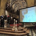 10/01/2016 - Gorizia, incontro di preghiera davanti al Presepe - Collegamento con Betlemme (video)