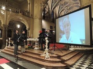 10/01/2016 - Gorizia, incontro di preghiera davanti al Presepe - Collegamento con Betlemme