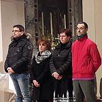 08/12/2017 - Gradisca, Professione di di Luciano (Frat. Gorizia), Magda, Franca e Luca (Frat. Gradisca)